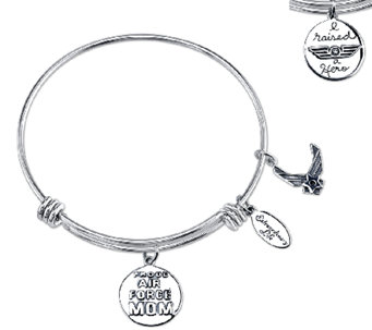 Sterling Expandable Military Bangle by Extraordinary Life - J339521