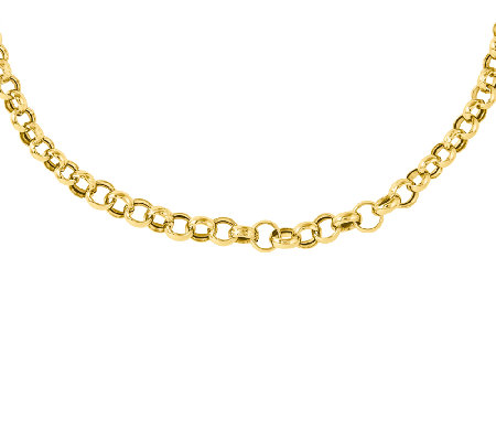"Graduated Rolo-Link 18"" Necklace, 14K"