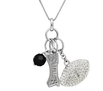 NFL Sterling Silver Necklace with Charms - J340821