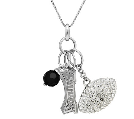 NFL Sterling Silver Necklace with Charms