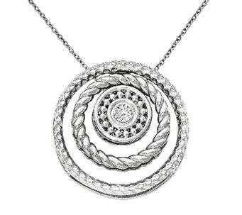 "Simply Stacks Textured Stackable Pendant Slidesw/ 18"" Chain - J340921"