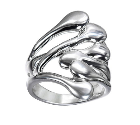 Hagit Sterling Bold Contemporary Cross Over Ring