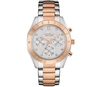Caravelle New York Rosetone Women's Watch - J343121