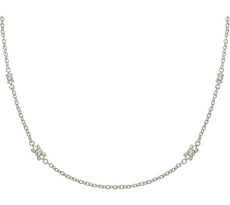 "Judith Ripka Sterling & Diamonique 24"" StationNecklace"