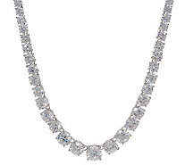 Diamonique Royal Collection Tennis Necklace Sterling Silver - J356121