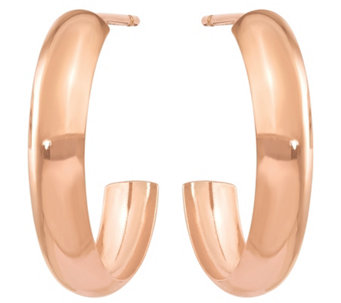 14K Rose Gold Polished Hoop Earrings - J374821