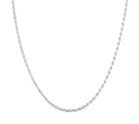 "UltraFine Silver 18"" Rope Chain, 12.5g"