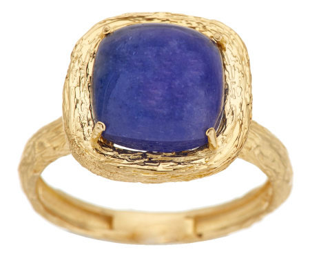 Adi Paz Tanzanite Cabochon Textured Ring 14K Gold
