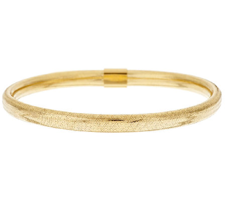 VicenzaGold Mesh Wrapped Domed Round Bangle, 14K