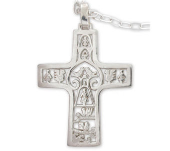 "Novica Artisan Crafted ""Cross of Life"" Pendantw/Chain - J298522"