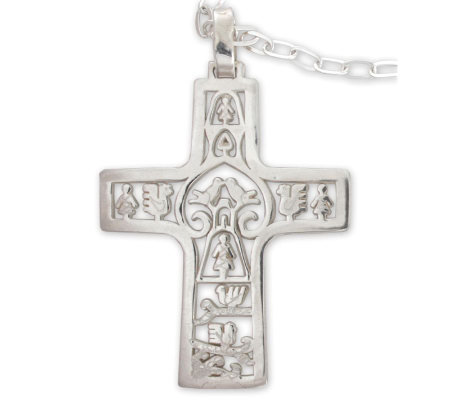 "Novica Artisan Crafted ""Cross of Life"" Pendantw/Chain"