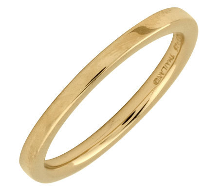 Simply Stacks Sterling 18K Yellow Gold-Plated 2.25mm Flat Ring