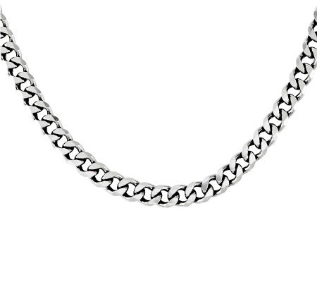 "Sterling 22"" Flat Curb Chain, 90g"