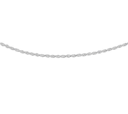 "Sterling 18"" Diamond-Cut Solid Rope Chain"