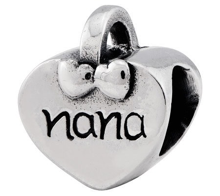 Prerogatives Sterling Nana Heart Bead