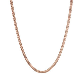 "Bronze 36"" Polished Snake Chain Necklace by Bronzo Italia - J320422"
