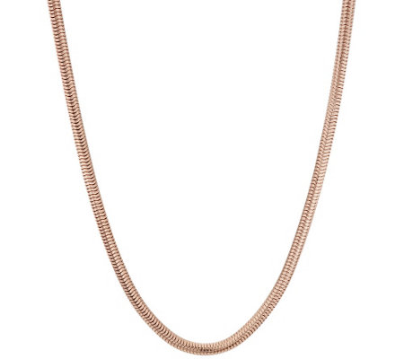 "Bronze 36"" Polished Snake Chain Necklace by Bronzo Italia"