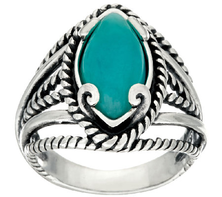 Carolyn Pollack Marquise Shape Amazonite Sterling Silver Ring
