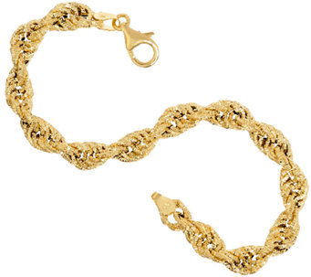 Vicenza Gold Textured Fancy Rope Bracelet, 4.6g - J323222