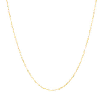 "Vicenza Gold 18"" Singapore Chain Necklace 14K Gold - J324722"