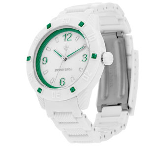 Judith Ripka White Athena Watch w/ Color Diamonique Accents - J326022
