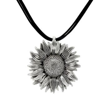 Sterling Silver Sunflower Multi-Cord Necklace by Or Paz - J331522