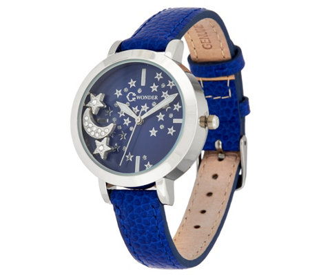 C. Wonder Leather Watch with Floating Charms