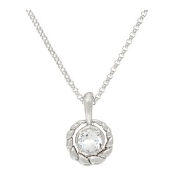 Carolyn Pollack Sterling Silver White Topaz Changeable Enhancer Chain