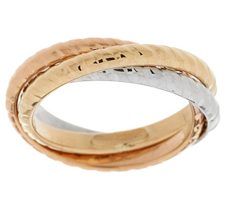 """As Is"" EternaGold Diamond Cut Rolling Ring 14K Gold"