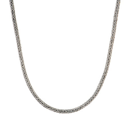 "Artisan Crafted Sterling Silver 18"" Tulang Naga Chain Necklace"