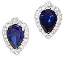Diamonique Royal Collection Pear Cut Earrings, Sterl - J356122