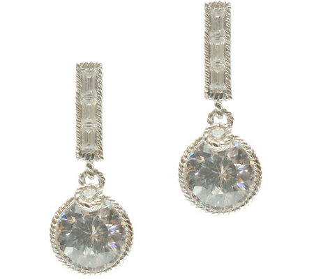 judith ripka sterling diamonique earrings qvc