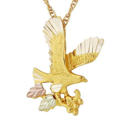 Black Hills Eagle Pendant w/Chain 10K/12K