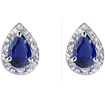 Sterling Silver Pear Shaped Simulated GemstoneEarrings - J380922