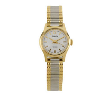 Timex Ladies Cavatina Watch with Two-tone Expansion Band - J102923