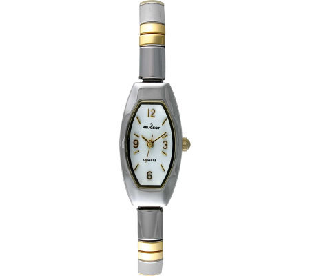 Peugeot Ladies Two-tone Bracelet Expansion Watch