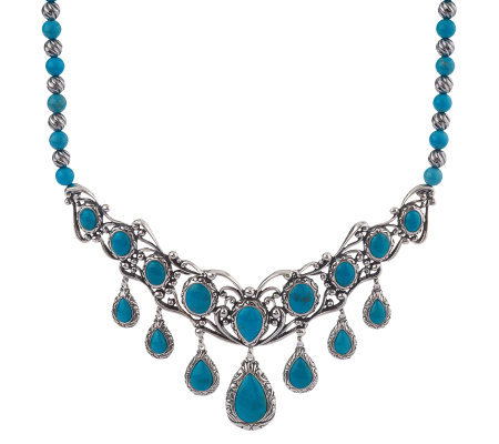Carolyn pollack sterling turquoise elegance necklace for Carolyn pollack jewelry qvc