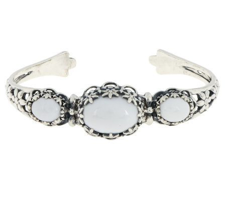 Carolyn pollack gardenia sterling cuff page 1 for Carolyn pollack jewelry qvc