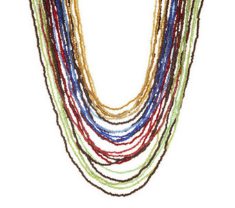 Linea by Louis Dell'Olio Multi Strand Bead Necklace - J278123