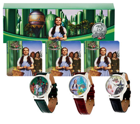 Wizard of Oz Set of 3 Strap Watches with Gift Boxes