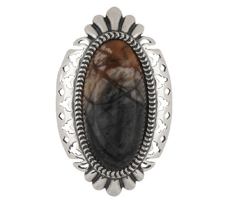 Oval Picture Stone Sterling Enhancer by American West