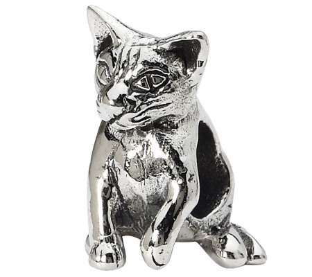 Prerogatives Sterling Abyssinian Cat Bead