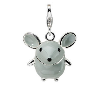 Amore La Vita Sterling Dimensional Gray MouseCharm - J299723