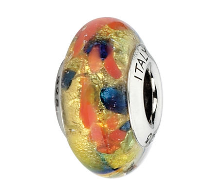 Prerogatives Gold/Red/Green/Blue Italian MuranoGlass Bead