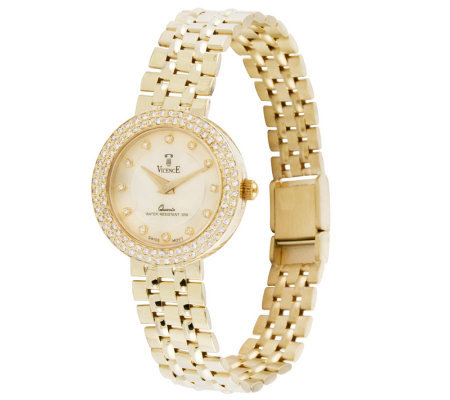 "Vicence 7"" 1/3 cttw Diamond Panther Link Watch,14K Gold"
