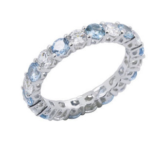 Diamonique Eternity Band Ring, Pla tinum Clad - J302423