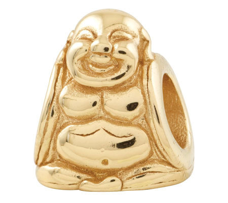 Prerogatives 14K Yellow Gold-Plated Sterling Buddha Bead