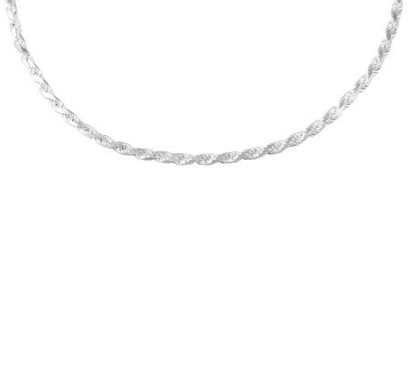 "UltraFine Silver 18"" Bold Rope Necklace, 24.7g"