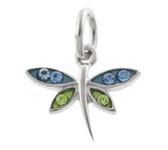 Mixers Sterling Crystal Dragonfly Pendant - J304723