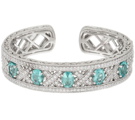 Judith Ripka Sterling Apatite & Diamonique Cuff